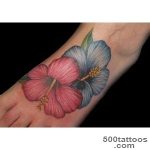 14+ Hibiscus Tattoos On Foot_40