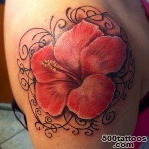 25 Stunning Hibiscus Flower Tattoos For Women_33