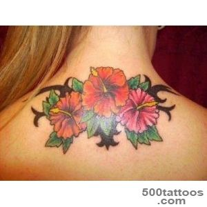 27 Colorful Hibiscus Flower Tattoos   SloDive_38