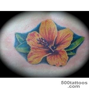 27 Colorful Hibiscus Flower Tattoos   SloDive_47
