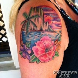 Hibiscus Flower Tattoo_15