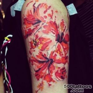 Hibiscus Flower Tattoo_30