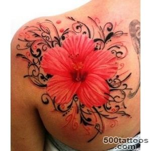 Hibiscus Tattoos, Designs And Ideas_7