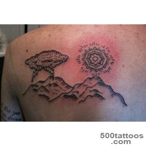 Homemade Clouds n Mountains Tattoo On Back   Tattoes Idea 2015  2016_6