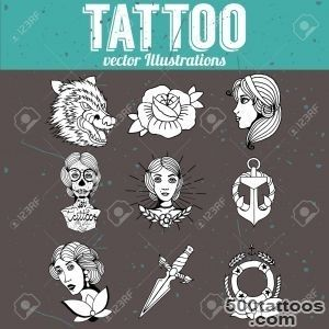 Homemade Tattoo Designs Vector Set Royalty Free Cliparts, Vectors _26