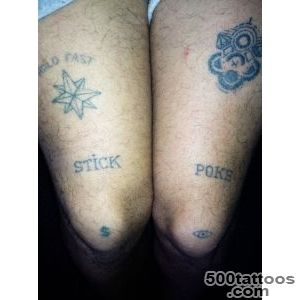 STICK AND POKE homemade tattoos — My legs!_18