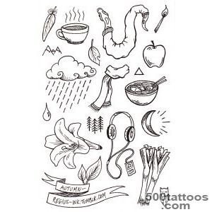 STICK AND POKE homemade tattoos — regius ink some autumn themed _35