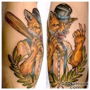 Tripp Tattoo   hooligan fox_32