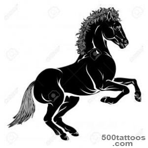 An Illustration Of A Stylised Horse Perhaps A Horse Tattoo Royalty _44