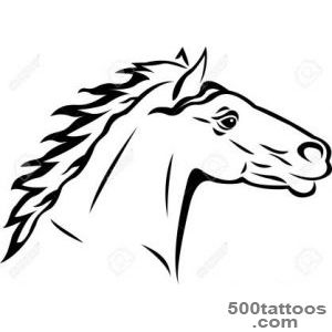 Horse Tattoo Royalty Free Cliparts, Vectors, And Stock _43