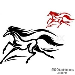 Running horse tattoo  Vector  Colourbox_11