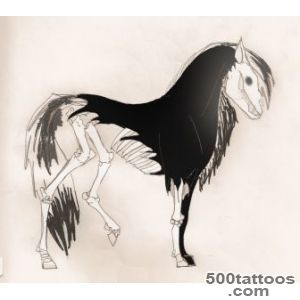 Skeletal Horse Tattoo Design  Tattoobitecom_14
