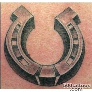 3D like big colored iron horseshoe tattoo   Tattoos photos_30