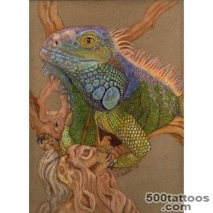 Animal Tattoos » Iguana Tattoo_21