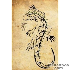 Lizard Iguana Tattoo On Back   Tattoes Idea 2015  2016_8