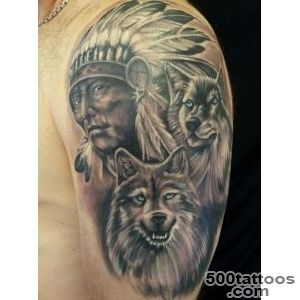 32+ Indian Chief Wolf Tattoos_5