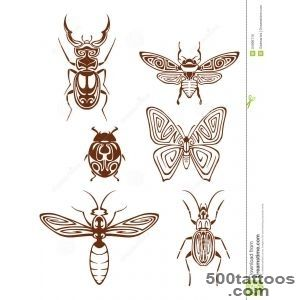 Insects Tattoos In Tribal Style Royalty Free Stock Image   Image _17