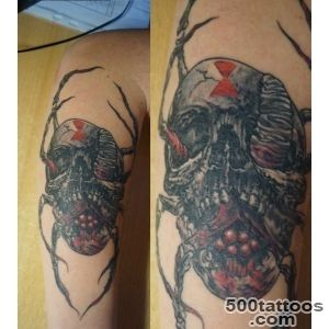 tattoo with horrible skulls and insects   Skull tattoos_28