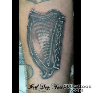 92 Authentic Irish Celtic Tattoos Knot, Trinity, Harp, Band_27