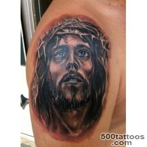 Jesus Tattoo Upper Arm   Ideas Tattoo Designs_34