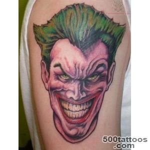Joker tattoo design, idea, image
