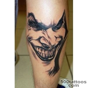 22+ Nice Joker Tattoos On Leg_7