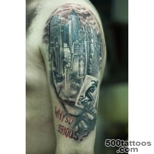 Joker Gotham city tattoo by Christo_47