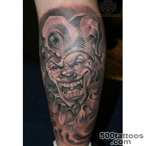 Smiling Jester Joker Tattoo Design   Tattoes Idea 2015  2016_43