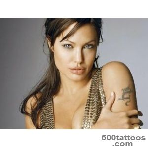 Amazing and Daring Angelina Jolie Tattoo Designs and Meaning_23
