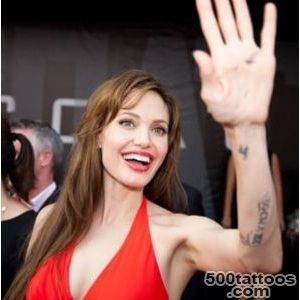 Angelina Jolie Sexy Tattoos and their Meanings_17