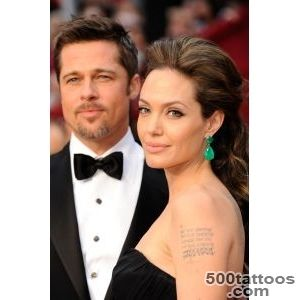 The Meaning of Angelina Jolie#39s Shoulder Tattoo_35