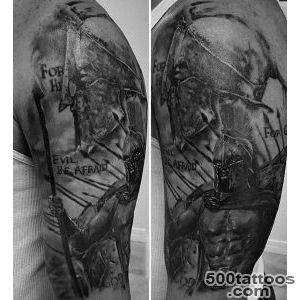 100 Warrior Tattoos For Men   Battle Ready Design Ideas_33