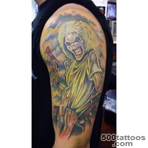 My Iron Maiden Eddie tattoo Done by Whitney Lenox @ Artistic _21