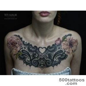 55 Delicate Lace Tattoo Designs for Every Kind of Girl_12