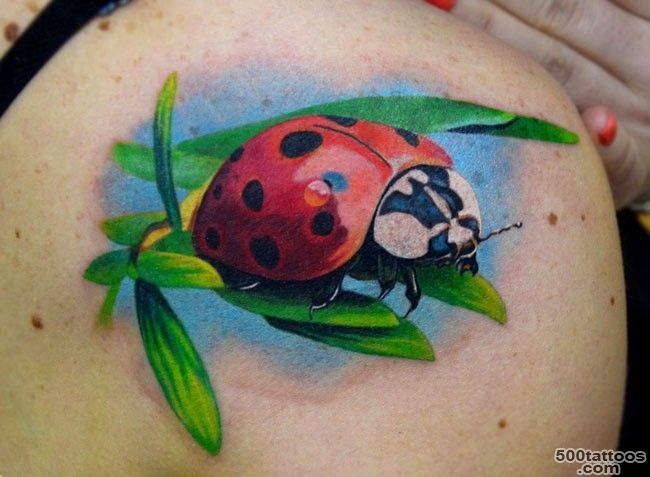 9+ Ladybug Back Shoulder Tattoos_3