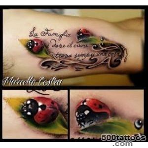 Ladybug tattoo design, idea, image