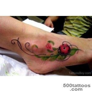 20+ Beautiful Ladybug Tattoos On Foot_1