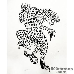 Leopard Scratch Tattoo Stencil   Tattoes Idea 2015  2016_14