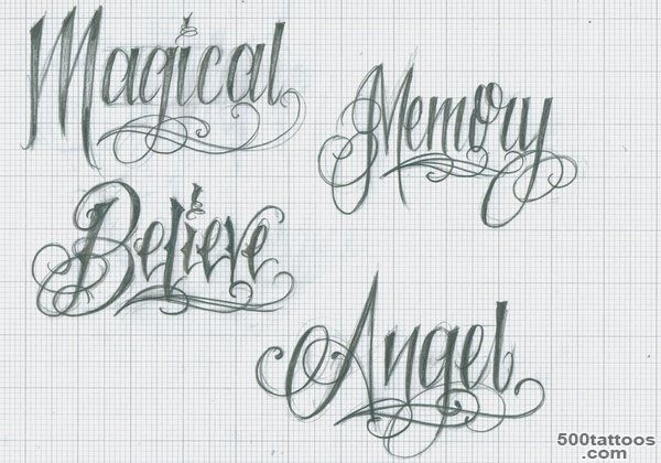 LETTERING TATTOOS  Tattoo design and ideas_9