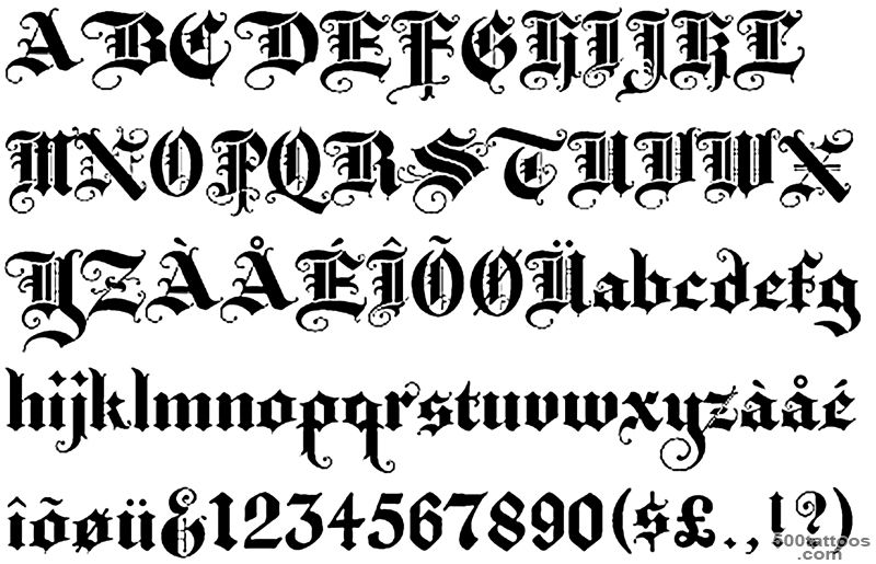 Old English Lettering Tattoos  High Quality Photos and Flash ..._39