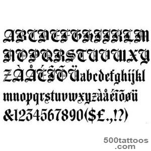 Old English Lettering Tattoos  High Quality Photos and Flash _40