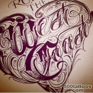 West Coast Lettering  Tattoos and piercings  Pinterest  West _31