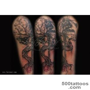 32+ Tree Of Life Tattoos On Sleeve_5
