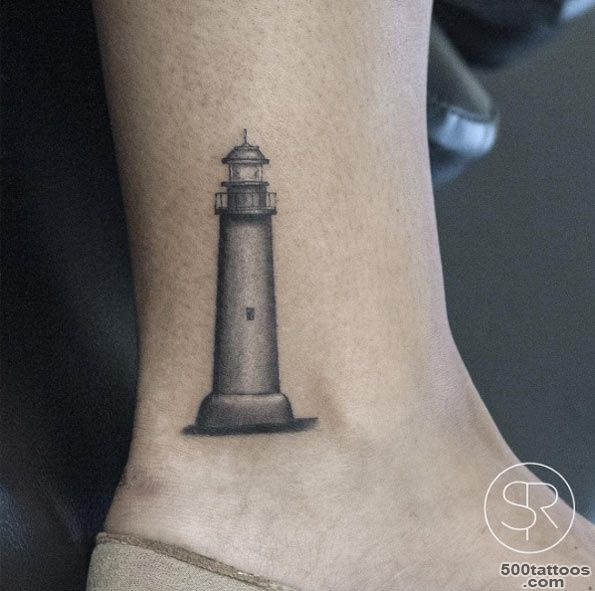 40+ Incredible Lighthouse Tattoo Designs   TattooBlend_25