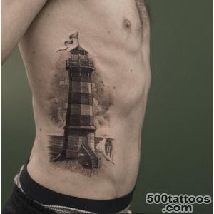 40+ Incredible Lighthouse Tattoo Designs   TattooBlend_7