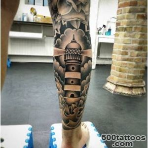40+ Incredible Lighthouse Tattoo Designs   TattooBlend_32