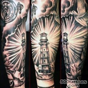 243dbf156 100 Lighthouse Tattoo Designs For Men A Beacon Of Ideas_2