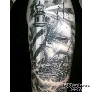 100 Lighthouse Tattoo Designs For Men   A Beacon Of Ideas_28