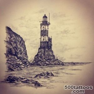 Lighthouse Tattoo On Leg by Freddy Tattoo_36