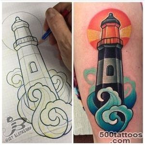 PowerLine Tattoo  Tattoos  Jay Blackburn  New School Lighthouse _29